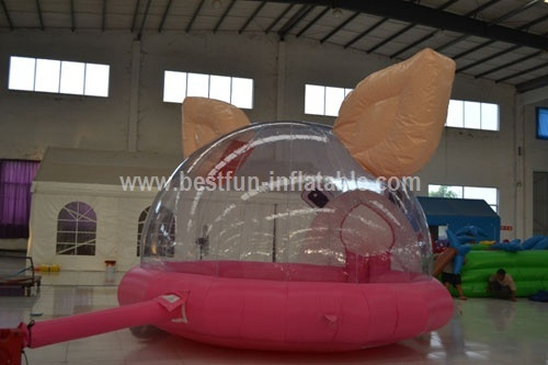 Cute pink inflatable piggy bouncer