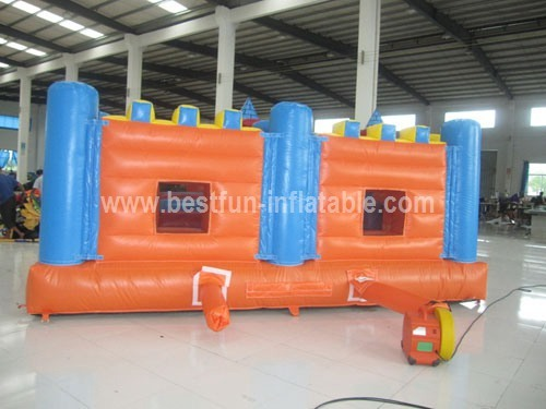Inflatable bouncy castle inflatable fortress
