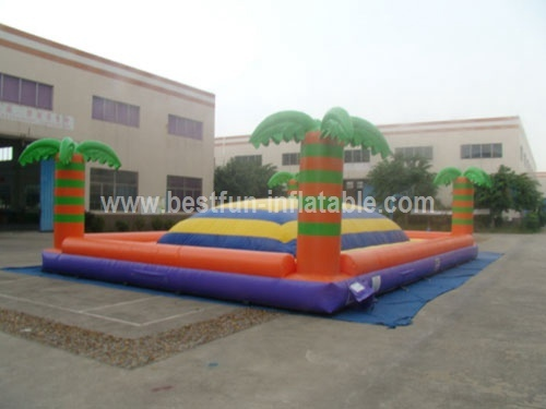 Inflatable jungle palm bouncer