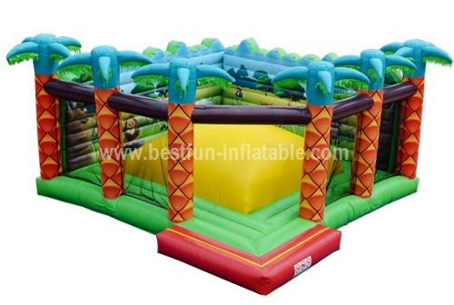 Inflatable rainforest jungle bouncer