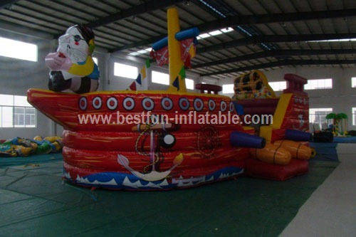 PVC cheap giant inflatable pirate ship bounce
