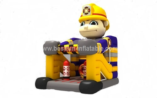 Fireman foot inflatable bouncer