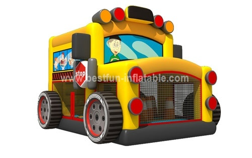 Inflatable bus bouncer model