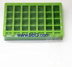 Side opening high quality promotional 28 compartments pill box