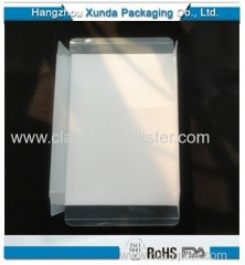 Plastic folded box for gift packaging