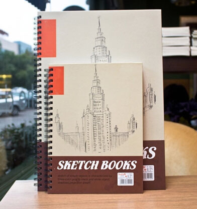 A3 A4 White Paper Sketch Book In Big Size