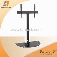 Aluminum Free Standing Glass and Metal TV Stand