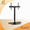 Superior Aluminum Glass and Metal TV Stand with Casters