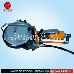pneumatic bundle with steel strips packing