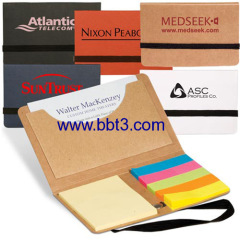 Promotional eco sticky notes with name card holder
