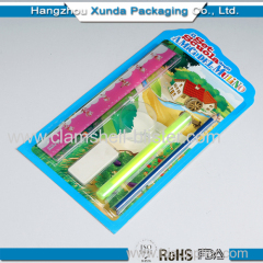 Plastic blister packaging for stationery