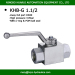 hydac standard high pressure carbon steel or stainless steel 2 way 1 1/2 BSP inch ball valve