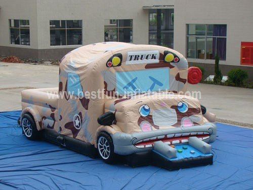 Inflatable Military Car Combo Ride