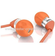 AKG Acoustics K323 Extra-Small In-Ear Headphones with Silicone Fittings Red Orange