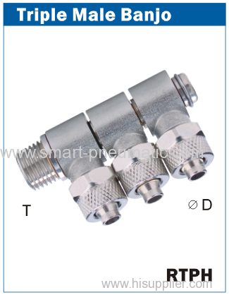 Rapid Fittings-------Triple Male Banjo