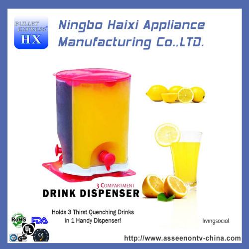 Useful portable beverage dispenser
