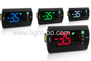 Custom Design Super Bright Green/Yellow/Red 3-digit 7 segment LED Display for Cooling