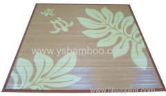 Flower Print Bamboo Carpet
