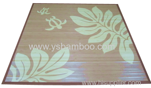 Flower Print Bamboo Carpet