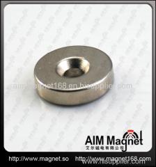 Screw Hole Neodymium Magnetic Round