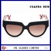 Cat Eye Rim Wide Frame Black Plastic TR90 Cool Sunglasses for Men
