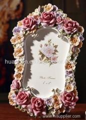resins/ rose photo frame