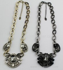 NT gold plating coat necklace