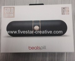 Beats by Dr.Dre Pill 2.0 Portable Stereo Speaker with Bluetooth Gold Edition