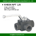 BK3-NPT1/8 high pressure 3 way female thread ball valve