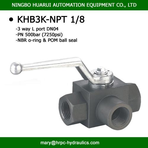 """Full Port 3//8/"""" High Pressure Industrial Steel Ball Valve 7250 PSI"""