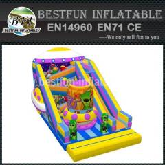 Alien UFO inflatable kids slide