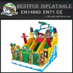 Pirate pvc inflatable slide