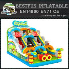 Inflatable slide with owls nest