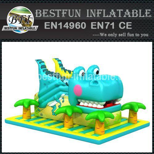 Giant inflatable crocodile slide