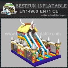 Indian theme inflatable slide