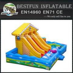 INLATABLE YELLOW HOUSE with SLIDE