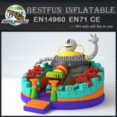 ROUND INFLATABLE SLIDE ROBOT