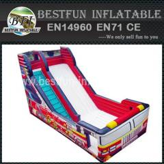 Inflatable slide fire truck