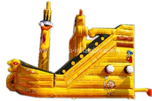 Adult inflatable pirate ship slide