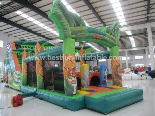 Animal inflatable safari slide