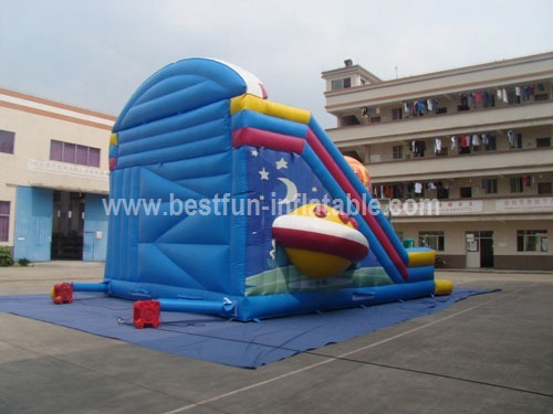 Cartoon PVC inflatable aliens slide