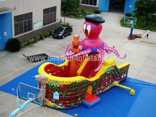 Cheap inflatable pirate slide for sale