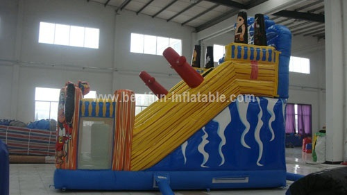 Commercial PVC tarpaulin Pirate inflatable slide