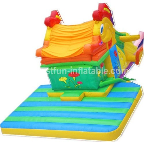 Funny outdoor snappy fish inflatable slide