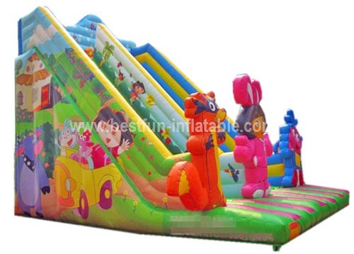 Giant outdoor inflatable slide