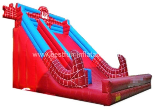 Giant PVC tarpaulin inflatable slide Spider Man