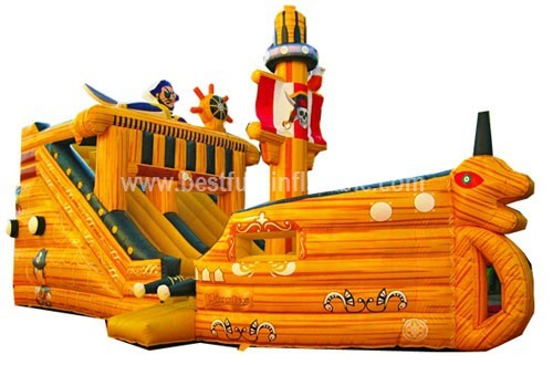 Good quality inflatable pirates slide