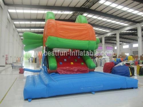 Huge inflatable ocean fish slide