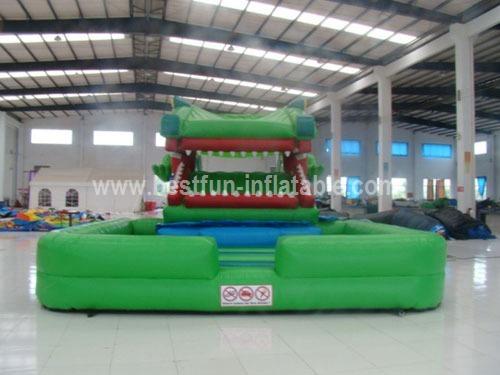 Inflatable Big Crocodile Slide For Kids