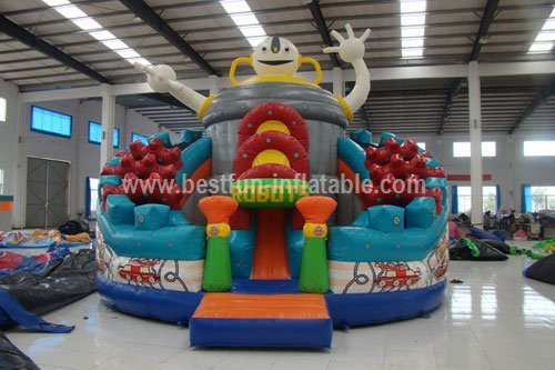 Intelligence robot inflatable slide